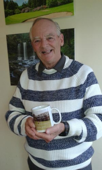 Photo shows Dave with his Mug