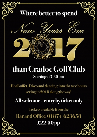 New Years Eve at Cradoc