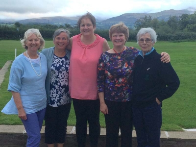 L-R    Janice Williams, Diane Davies, Mags Jones (Ladies' Captain), Carol Herbert, Glenys Williams